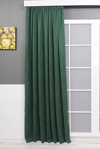 Brillant Yeşil Petek Dokulu Fon Perde 150x260