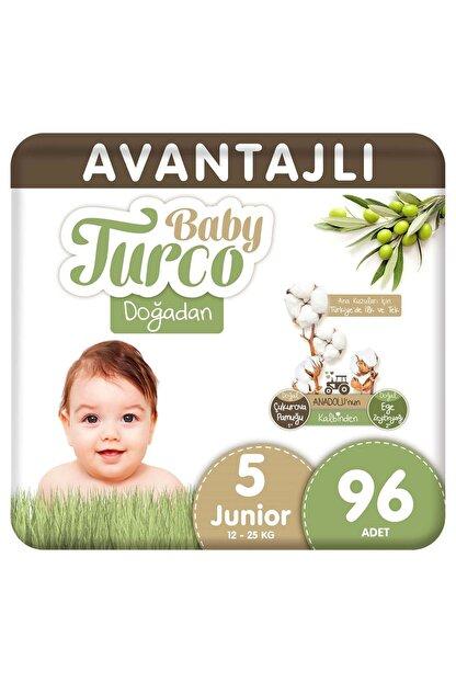 Baby Turco Doğadan Avantajlı Bebek Bezi 5 Numara Junior 96 Adet