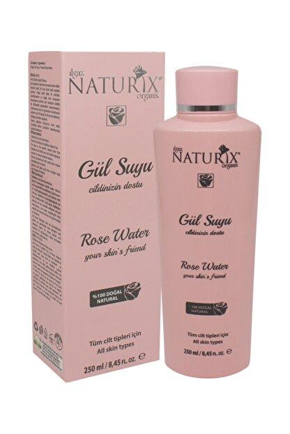 Naturix Tonik Etkili Gül Suyu Gözenek Sıkılaştırıcı 250 ml Onarıcı Besleyici Cilt Sıkılaştırıcı %100 Doğal