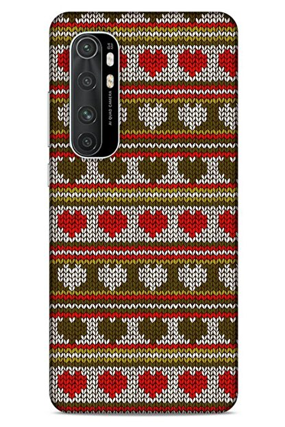Lopard Kazak (10) Desenli Silikon Kapak Xiaomi Mi Note 10 Lite Uyumlu Kılıf