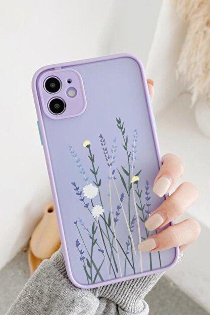 Spoyi Iphone 11 Lila Hux Soft Lavander Tasarımlı Telefon Kılıfı