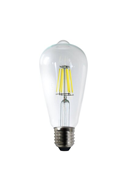 Heka Led Rustik Şeffaf 6 W Beyaz Işık Ampul 6500k