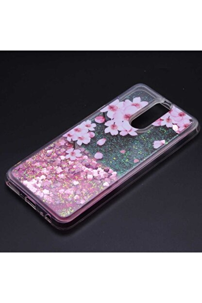 Huawei Teleplus Mate 10 Lite Sıvılı Star Silikon Kılıf Pembe + Nano Ekran Koruyucu