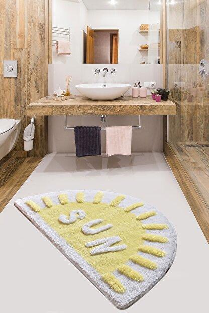 Chilai Home Sun Sarı 60x100 cm Banyo Halısı Paspas