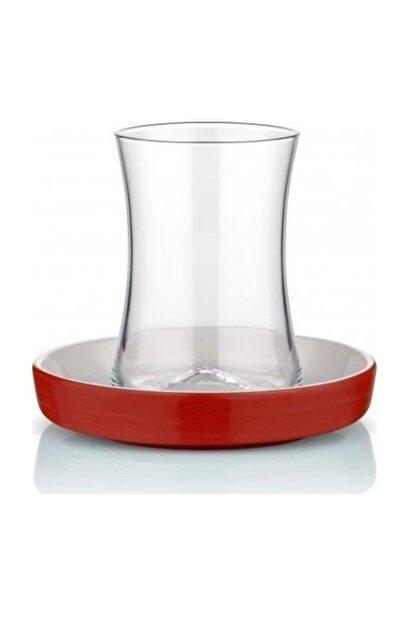 Koleksiyon Ev ve Mobilya Istanbul Tiryaki Kırmızı Çay Bardağı Seti 6 Lı