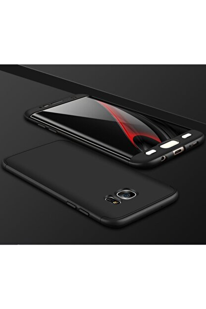 Samsung Teleplus Galaxy S7 Edge 360 Full Korumalı Kapak Siyah
