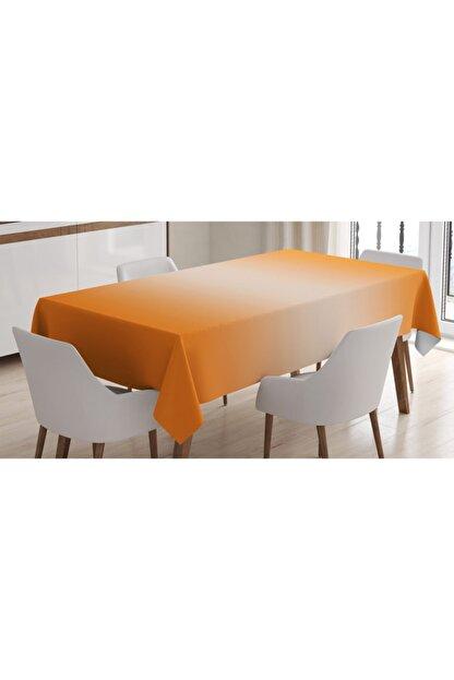 Rengirenk Soyut Masa Örtüsü Turuncu Dekoratif Desen Orange Venue