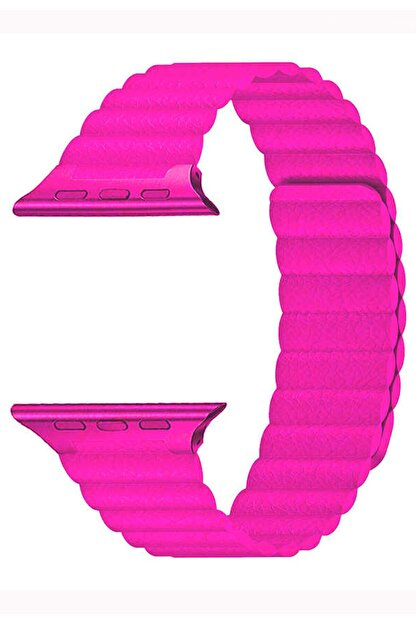 Coverzone Apple Watch Kayış 42 Mm Deri Pembe