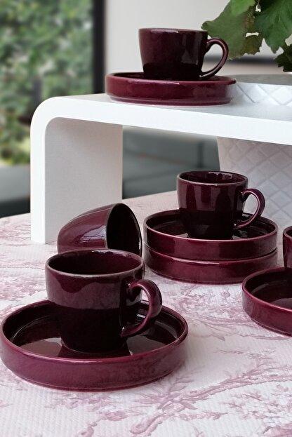 Tulü Porselen Kahve Fincan Takımı 6 Kişilik