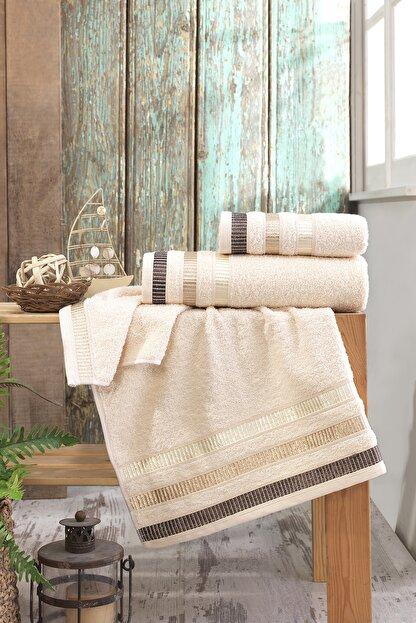Binnur Home Binnur Home Banyo Havlu Takımı 70x140-50x90