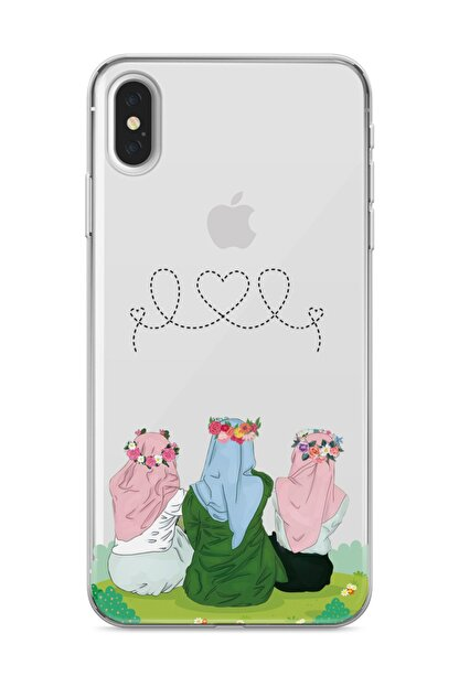 wowicase Apple iPhone XS Max Telefon Kılıfı Çiçekli Dostlar Tasarımlı