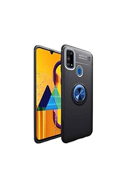 KNY Samsung Galaxy M31 Kılıf Yüzüklü Manyetik Ravel Silikon+nano Cam Ekran Koruyucu