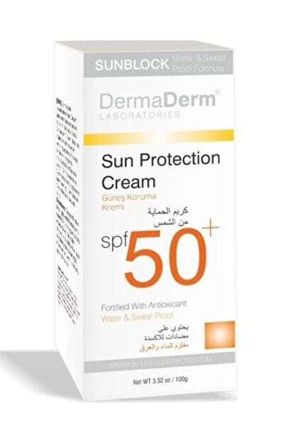 DermaDerm Spf 50 Faktör 100 gr Güneş Kremi