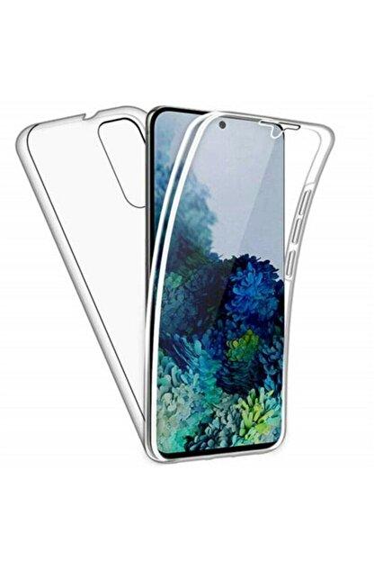 Samsung Teleplus Galaxy A31 Kılıf 360 Ön Arka Silikon Şeffaf
