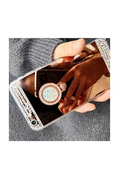 Ksyaccessories Iphone X/xs Aynalı Ve Taşlı Selfie Yüzüklü Telefon Kılıfı