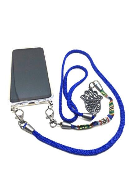 Dugmebul by Org Tekstil Blu Iphone X / Xr Boyun Askılı Telefon Kılıfı (şeffaf Kap Dahil)