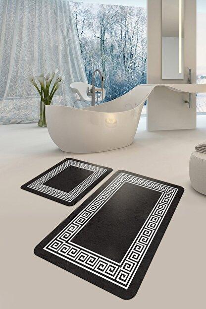 DEKOMOD Dekoratif Dijital Baskılı Banyo Klozet Paspas Seti