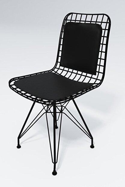 Kenzlife Knsz Kafes Tel Sandalyesi 4 Lü Mazlum Syhsyh Sırt Minderli Ofis Cafe Bahçe Mutfak