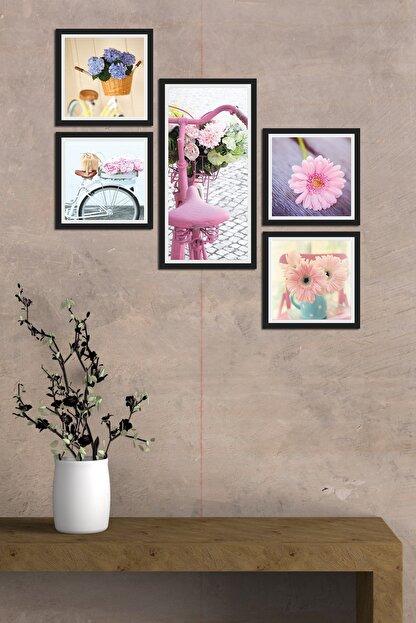 Cadran Collage Style 5 Parçalı Mdf Tablo Atf237