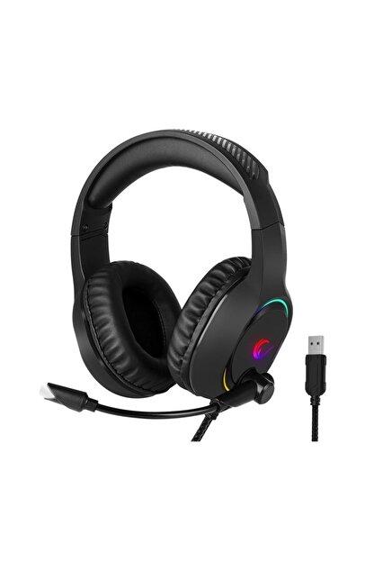 Rampage Bygame-x3 Siyah 7.1 Usb Surround Rgb Işık Efektli Gaming Oyuncu Mikrofonlu Kulaklık