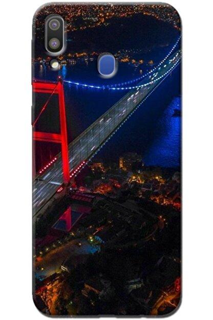 Noprin Samsung Galaxy M20 Kılıf Silikon Baskılı Desenli Arka Kapak