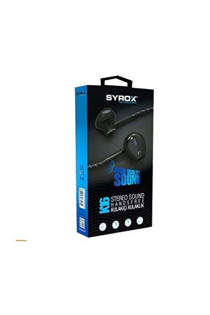 Syrox K16 Ekstra Bas Stereo Kulakiçi Kulaklık - Siyah
