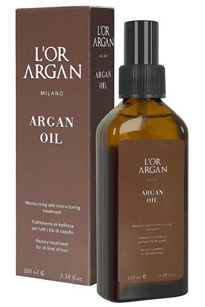 L'Or Argan Milano Aşırı Yıpranmış Saçlar Için Nemlendirici Onarıcı Argan Bakım Yağı 100ml