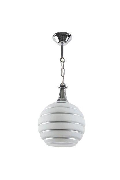 ZEYTİN&LİMON AYDINLATMA Modern Dekoratif Gümüş Cam Tekli