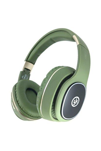 YK Design Rgb Led Işıklı Bluetooth Stereo Kablosuz Kulaklık Yeşil + Sd Kart