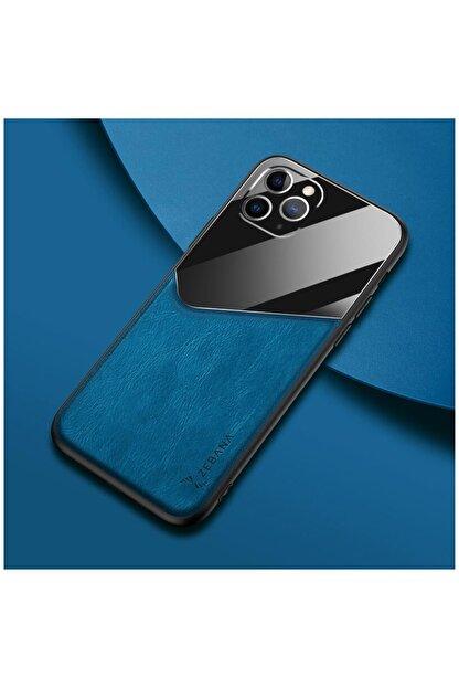 Dara Aksesuar Apple Iphone 11 Pro Max Kılıf Zebana New Fashion Deri Kılıf Mavi