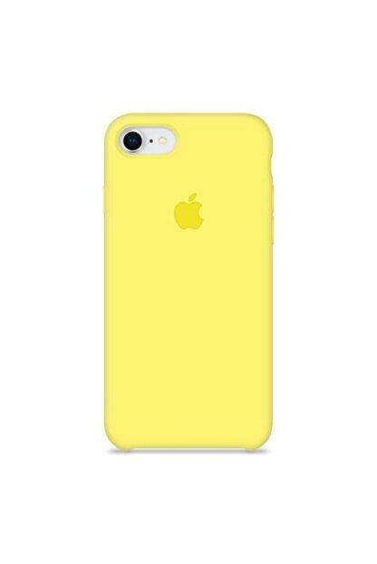 Manka Store Apple Iphone 7 / 8 Lansman Kılıf Limon Sarı-içi Kadife