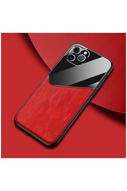Dara Aksesuar Apple Iphone 11 Pro Max Kılıf Zebana New Fashion Deri Kılıf Kırmızı