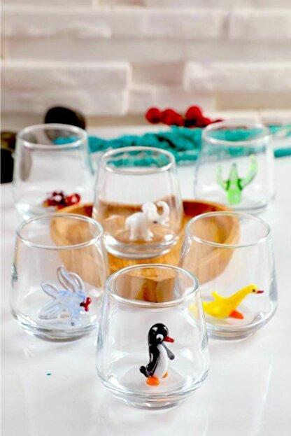 mosaicturk Kahve Yanı Bardağı Karışık Hayvan Figürleri