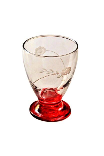 BAŞAK 41011 Çın Çın 12 Adet (Kırmızı Papatya) Su-meşrubat Bardağı