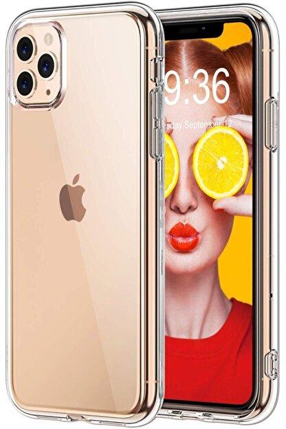Moraksesuar Iphone 11 Pro Max Uyumlu Ultra Ince 0.2mm Silikon Şeffaf Kılıf