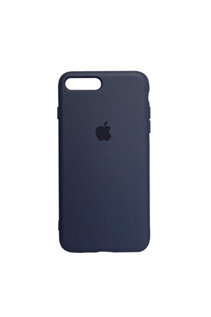 Mopal Apple Iphone 7 Plus Logolu Iç Yüzeyi Kadife Altı Kapalı 360° Tam Koruma Silikon Lansman Kılıf