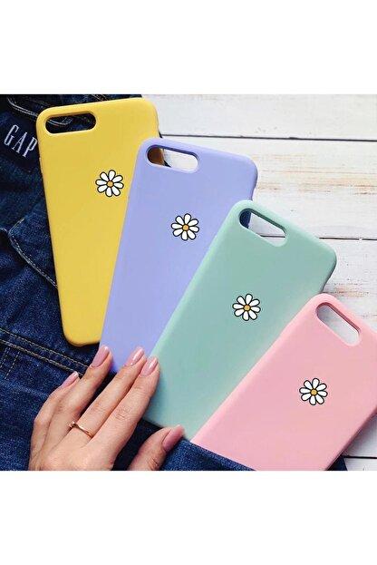 mooodcase Papatya Desenli Iphone 7 Plus Lila Lansman Telefon Kılıfı