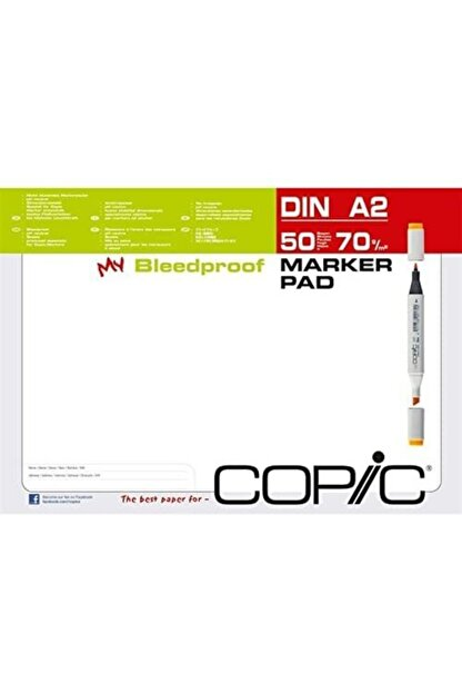 copic Marker Blok - A2 - 70gr - 50 Yaprak