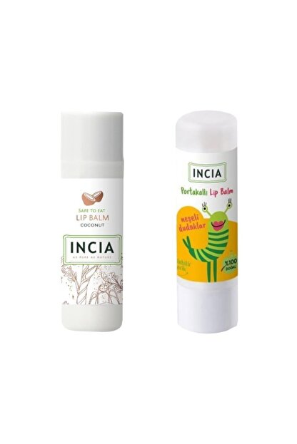 INCIA Lip Balm Coconut 6 gr 1 Adet - Kids Orange 1 Adet 1 Alana 1 Bedava