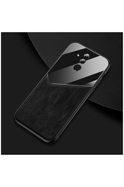 Dara Aksesuar Huawei Mate 20 Lite Kılıf Zebana New Fashion Deri Kılıf Siyah