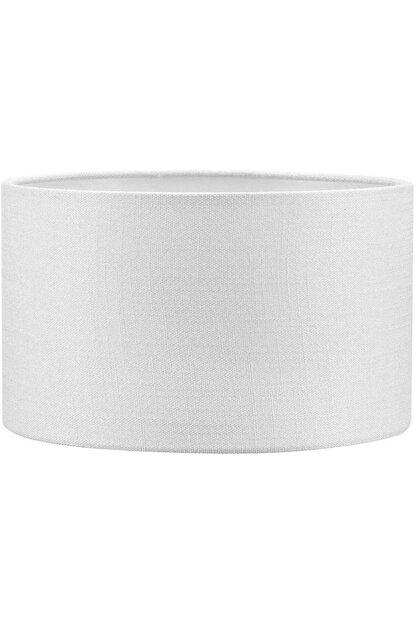 Lit Dizayn Lambader Başlık Beyaz Silindir Yuvarlak Şapka 38x38x22 Cm Dekoratif Özel Yüksek Kalite Kumaş
