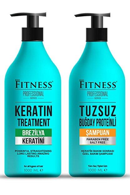 Fitness Professional Saç Düzleştirici Keratin Bakımı Ve Tuzsuz Şampuan Seti 1000 Ml