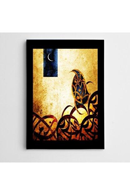Dekolata Ay Ve Desenler Modern Sanat Kanvas Tablo 35 X 50 cm
