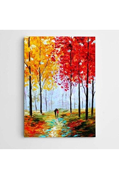 Dekolata Sonbahar Ve Sevgililer Modern Sanat Kanvas Tablo 70 X 100 cm