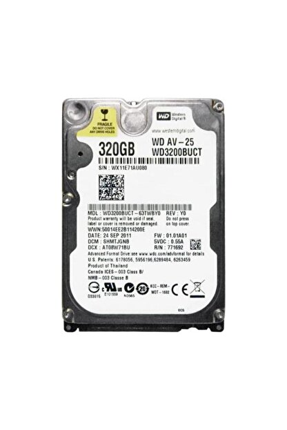 """WD Wd3200buct 320gb 5400 Rpm 16mb Cache Sata 3.0gb/s 2.5"""" Notebook Hard Disk"""