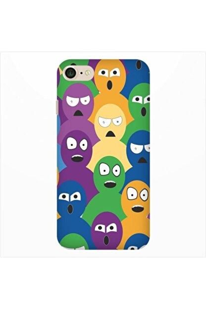 cupcase Iphone Se 2020 Esnek Silikon Telefon Kabı Kapak - Renkli Ordu