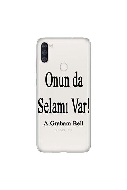 cupcase Samsung Galaxy M11 Esnek Silikon Telefon Kabı Kapak - Graham Bell