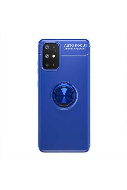 Samsung A31 Yüzüklü Silikon Kılıf Mavi