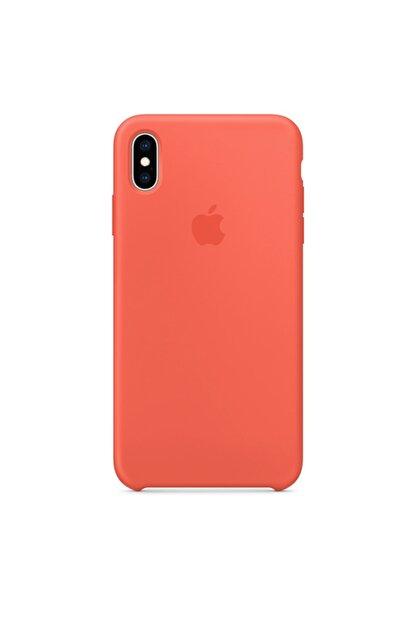 Ebotek Apple Iphone Xs Max Kılıf Silikon Içi Kadife Lansman Turuncu