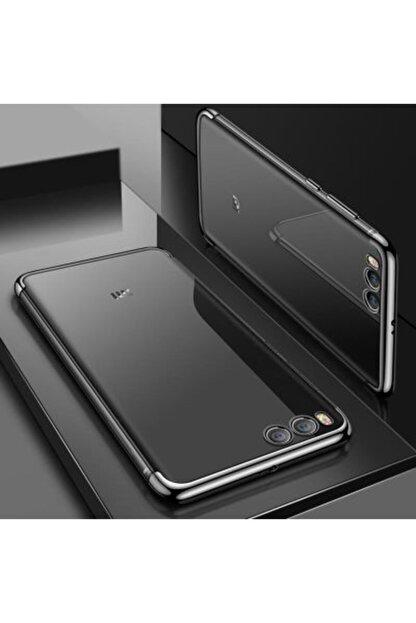 Pickcase Xiaomi Mi 6 Kılıf Dört Köşeli Lazer Silikon Siyah
